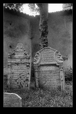 Photograph - Two Jewish Gravestones by Weston Westmoreland