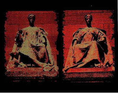 Art Print featuring the digital art Two Justices by P Dwain Morris