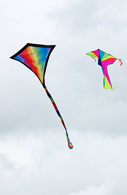 Photograph - Two Kites At The Windscape Kite Festival 2011 by Rob Huntley