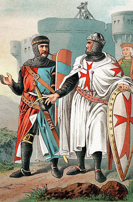 Two Knights Of Malta Wearing Armour Art Print