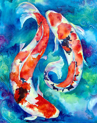 Painting - Two Koi Fish by Christy Freeman Stark