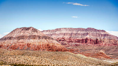 Photograph - Two Layered Mountains by  Onyonet  Photo Studios