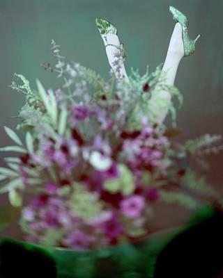 Bouquet Photograph - Two Legs In The Air by Karen Radkai