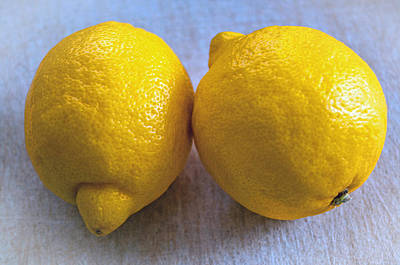 Photograph - Two Lemons by Tikvah's Hope