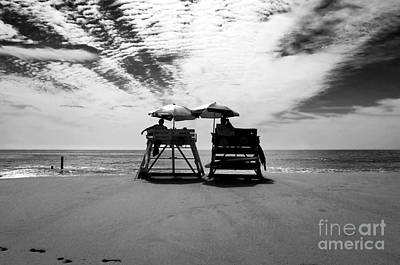 Photograph - Two Lifeguards by John Rizzuto