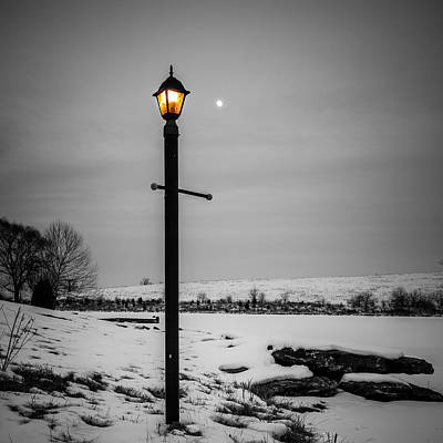 Photograph - Two Lights by Alexey Stiop