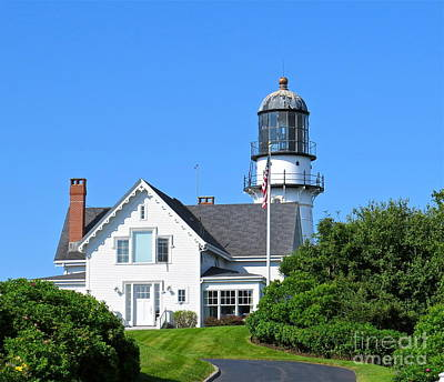 Photograph - Two Lights Lighthouse  by Nancy Patterson
