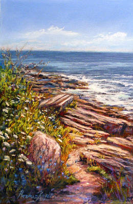 Pastel - Two Lights State Park by Denise Horne-Kaplan