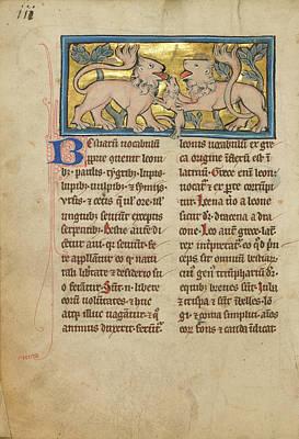Two Lions Reviving Their Dead Cubs Unknown Thérouanne Art Print
