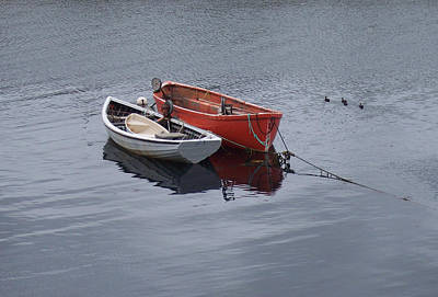 Photograph - Two Lonely Boats by Richard Bryce and Family