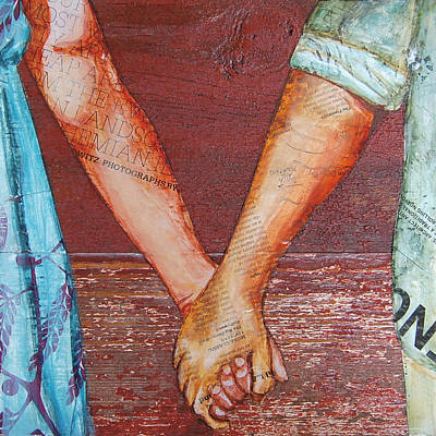 Couple Mixed Media - Two Lovers Entwined by Danny Phillips