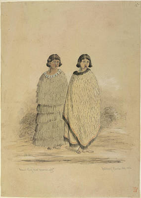 Cuthbert Photograph - Two Maori Women by British Library