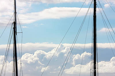 Photograph - Two Masts And Clouds by Jan Brons