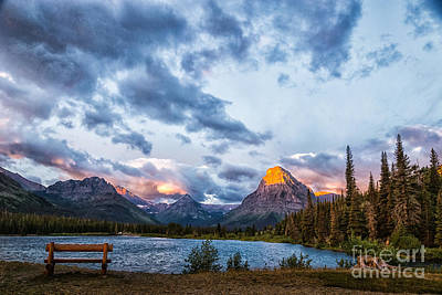 Photograph - Two Medicine Lake Sunrise by Sophie Doell