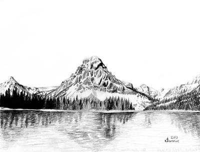Two Medicine Mountain Art Print by Kayleigh Semeniuk