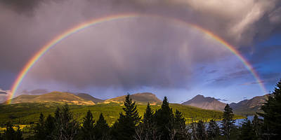 Photograph - 100801a-014 Two Medicine Sunrise Rainbow by Albert Seger