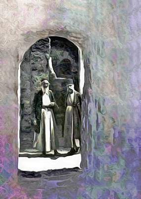 Paintography Photograph - Two Men In Hebron During 1921 by Munir Alawi