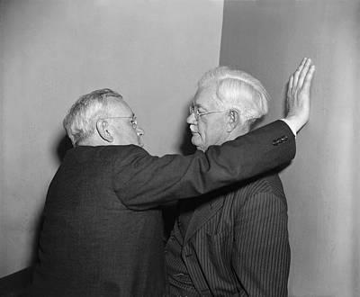 Talking Heads Photograph - Two Men Talking by Harris & Ewing
