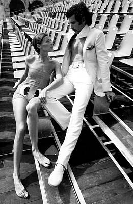 Photograph - Two Models Wearing 1970s Style Clothing by Eva Sereny
