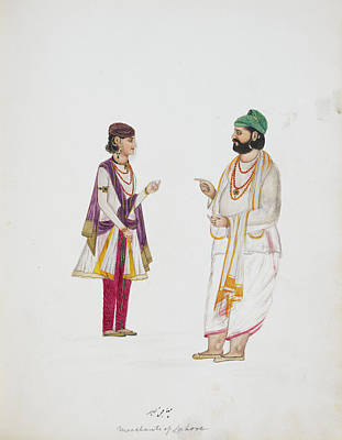 Broker Photograph - Two Money-lenders Of Lahore by British Library