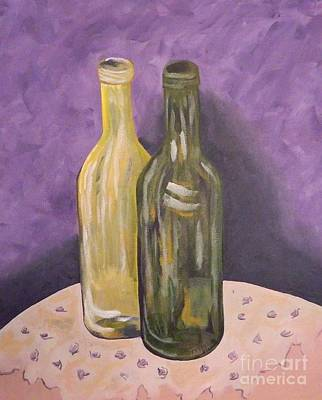 Painting - Two More Bottles Of Wine by Tanja Beaver