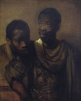 Painting - Two Negroes by Celestial Images