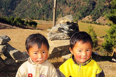 Two Nepali Boys Original by Colin Woods