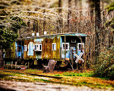 Photograph - Two Old Cabooses by Bill Swartwout Fine Art Photography
