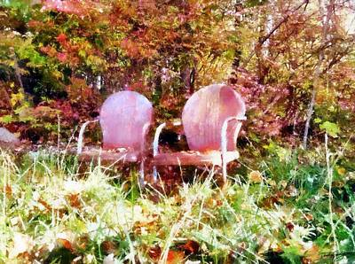 Painting - Two Old Chairs by Derek Gedney