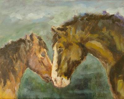Horses Painting - Two Old Friends by Veronica Coulston