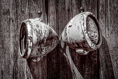 Photograph - Two Old Headlights by  Onyonet  Photo Studios