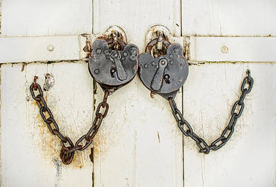 Photograph - Two Old Locks In Love by Gary Slawsky