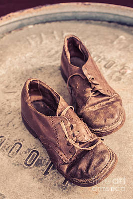 Lace Photograph - Two Old Shoes by Edward Fielding