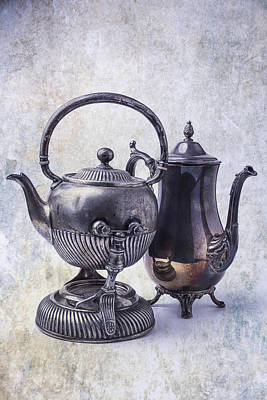 Two Old Teapots Art Print by Garry Gay