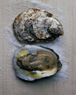 Two Oysters Print by Romulo Yanes