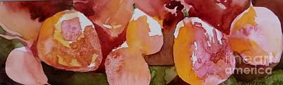 Painting - Two Pairs Of Pears by Donna Acheson-Juillet