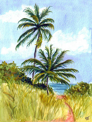 Painting - Two Palms by Clara Sue Beym
