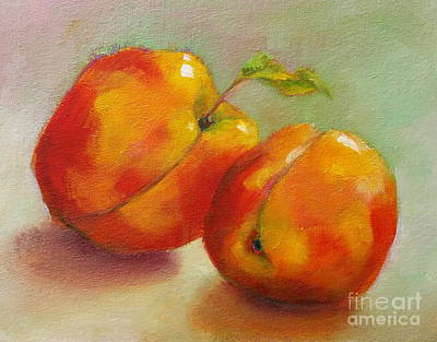 Painting - Two Peaches by Michelle Abrams