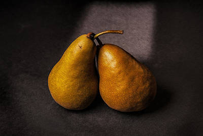 Two Pear Art Print by Peter Tellone