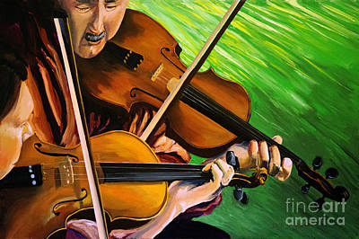 Painting - Two People Playing The Violin by Jock McGregor