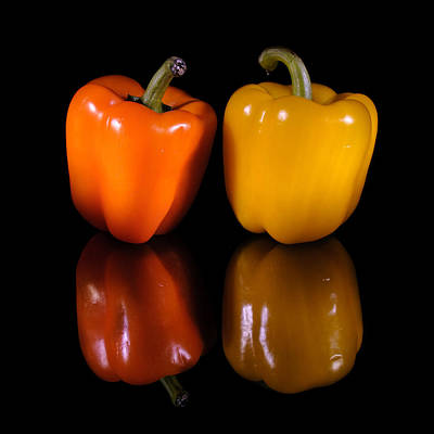 Photograph - Two Peppers by Fred LeBlanc