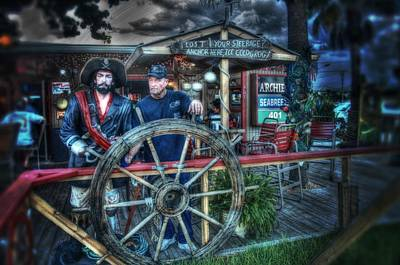 South Hutchinson Island Photograph - Two Pirates by Richard Hemingway