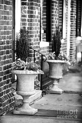 Two Planters By The Door Art Print by John Rizzuto