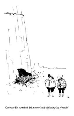 Pianist Drawing - Two Police Officers Survey The Wreckage by Edward Steed