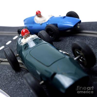 Auto Racing Photograph - Two Racecars by Bernard Jaubert