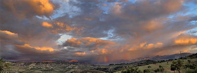 Two Rainbows In Sierra Nevada Print by Guido Montanes Castillo