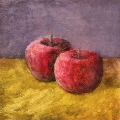 Painting - Two Red Apples No. 1 by Michelle Calkins
