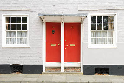 Two Red Doors Art Print by Chevy Fleet