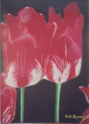 Painting - Two Red Tulips by Robert Bray
