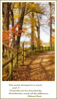 Photograph - Two Roads Diverged by Jean Goodwin Brooks